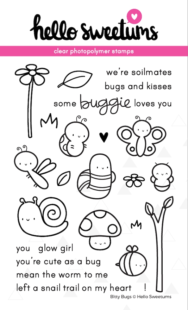 Hello Sweetums BITTY BUGS Clear Stamp Set 002053* zoom image