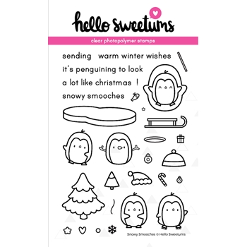 Hello Sweetums SNOWY SMOOCHES Clear Stamp Set 002077