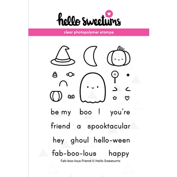 Hello Sweetums FAB-BOO-LOUS FRIEND Clear Stamp Set 002091*