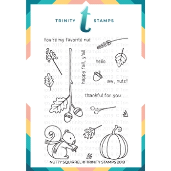 Trinity Stamps NUTTY SQUIRREL Clear Stamp Set tps-004