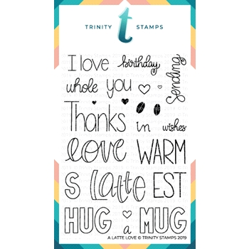 Trinity Stamps A LATTE LOVE Clear Stamp Set tps-009