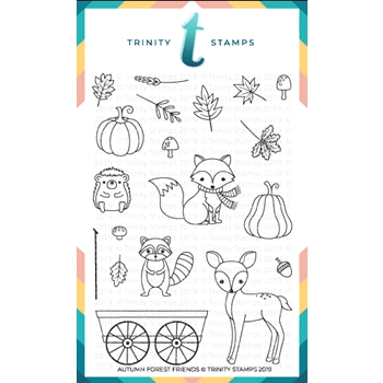 Trinity Stamps FOREST FRIENDS Clear Stamp Set tps-002