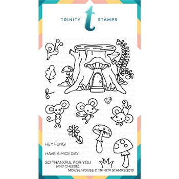 Trinity Stamps MOUSE HOUSE Clear Stamp Set tps-003