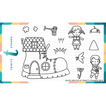 Trinity Stamps SHOE SPRITES Clear Stamp Set tps-001