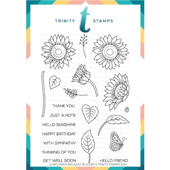 Trinity Stamps SUNFLOWER BOUQUET BUILDER Clear Stamp Set tps-006