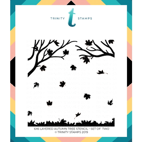 Trinity Stamps LAYERED AUTUMN TREE 6 x 6 Stencil Set of 2 tss-002 Preview Image