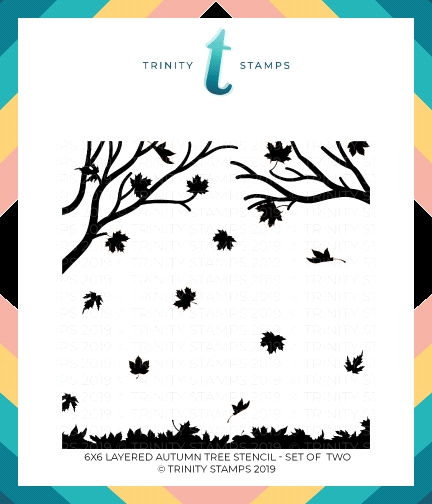 Trinity Stamps LAYERED AUTUMN TREE 6 x 6 Stencil Set of 2 tss-002 zoom image