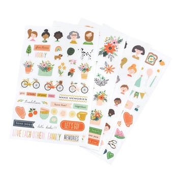 Pebbles Inc. Jen Hadfield THIS IS FAMILY Stickers 734191