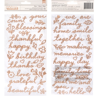 Pebbles Inc. Jen Hadfield HOME Puffy Phrase and Accent Stickers This is Family 734187