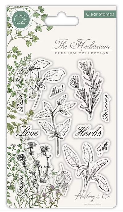Craft Consortium THE HERBARIUM HERBS Clear Stamps CCSTMP011 zoom image