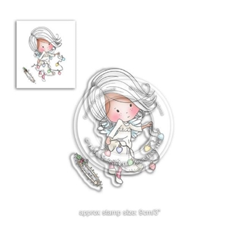 Polkadoodles LIGHT THE WAY Winnie Heavenly Clear Stamp Set pd7464