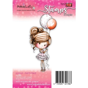 Polkadoodles PARTYTIME Winnie Clear Stamp pd7808