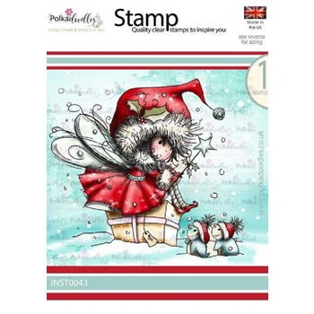 Polkadoodles WINNIE PENGUIN GIFTS Clear Stamp inst0043b