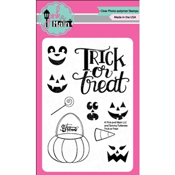 Pink and Main TRICK OR TREAT Clear Stamps PM0366
