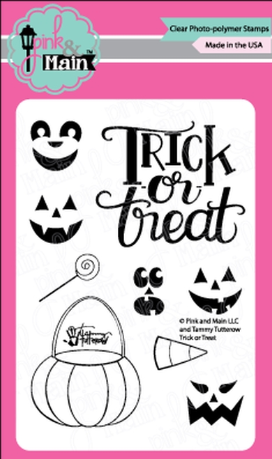 Pink and Main TRICK OR TREAT Clear Stamps PM0366* zoom image
