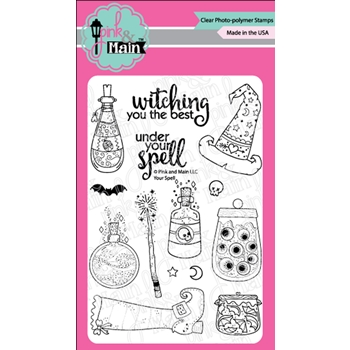 Pink and Main YOUR SPELL Clear Stamps PM0365
