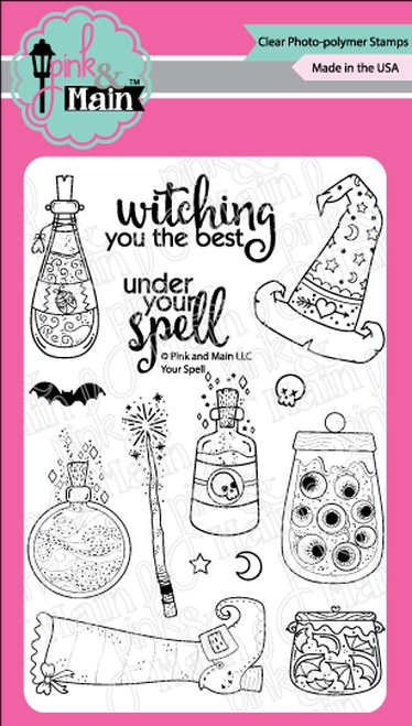 Pink and Main YOUR SPELL Clear Stamps PM0365 zoom image