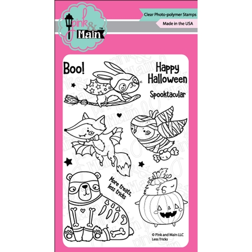 Pink and Main LESS TRICKS Clear Stamps PM0363 Preview Image