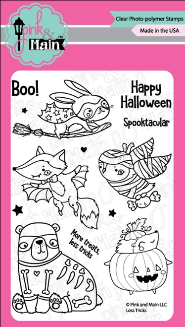 Pink and Main LESS TRICKS Clear Stamps PM0363* zoom image
