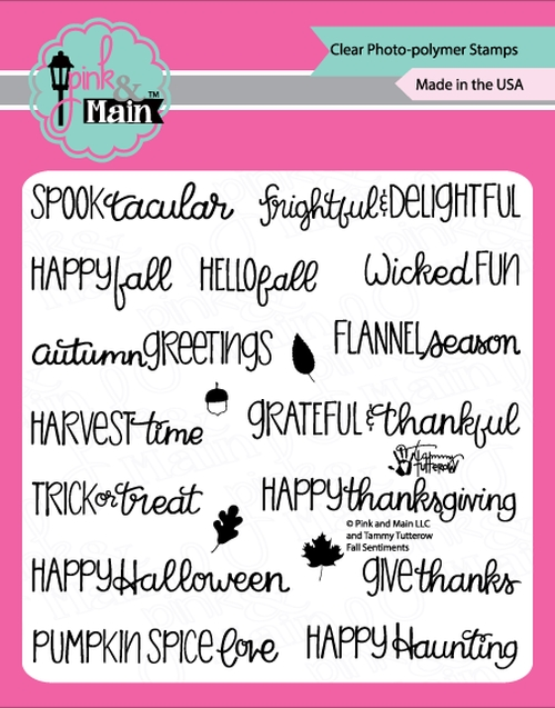 Pink and Main FALL SENTIMENTS Clear Stamps PM0364 zoom image