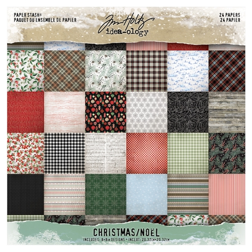 Tim Holtz Idea-ology 8 x 8 Mini Paper Stash CHRISTMAS th93988 Preview Image