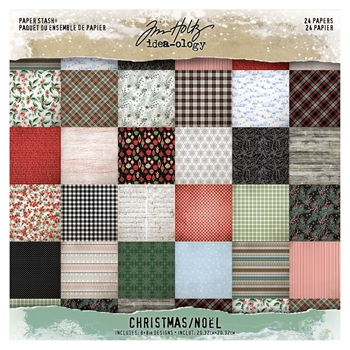 Tim Holtz Idea-ology 8 x 8 Mini Paper Stash CHRISTMAS Paperie th93988