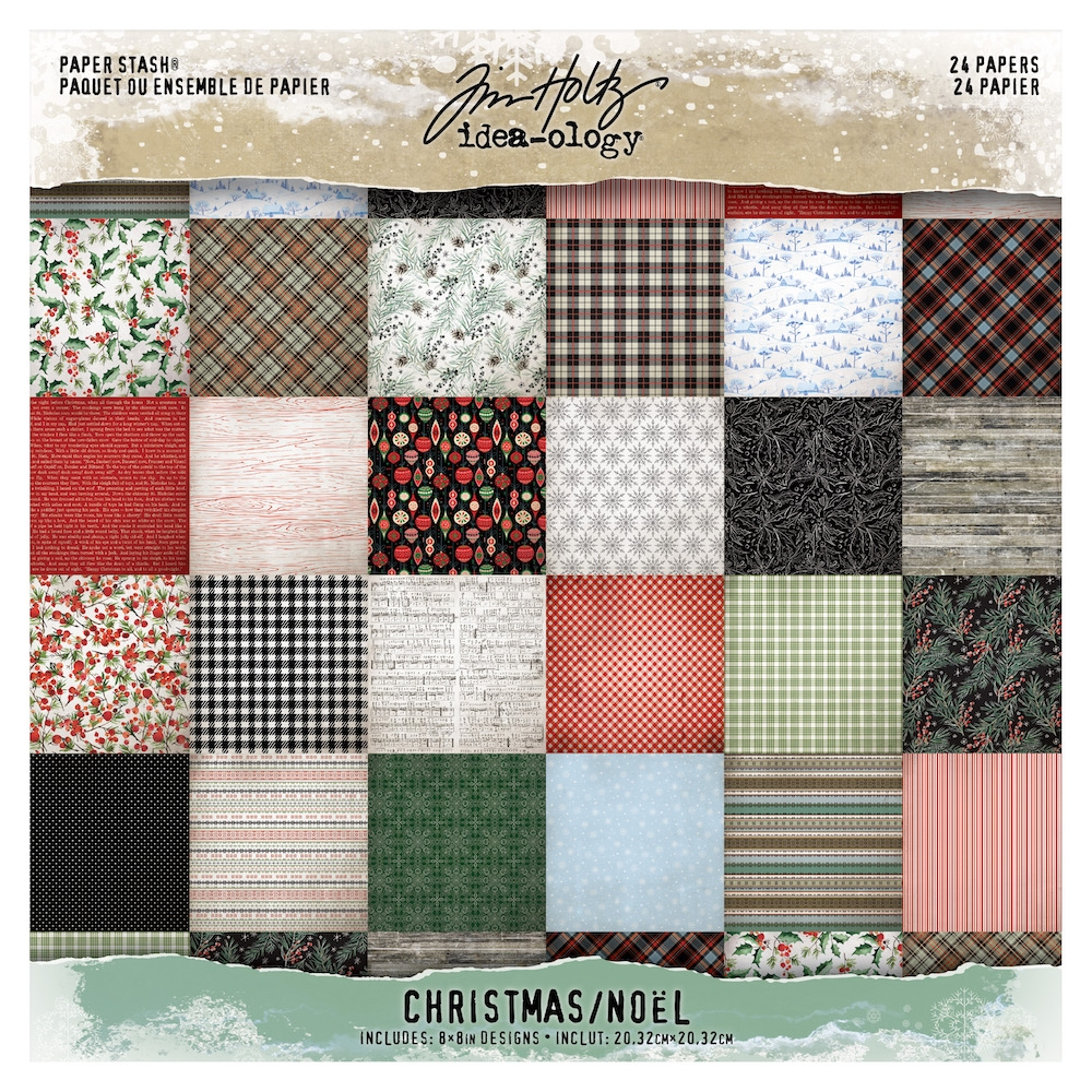 Tim Holtz Idea-ology 8x8 Mini Paper Stash Christmas