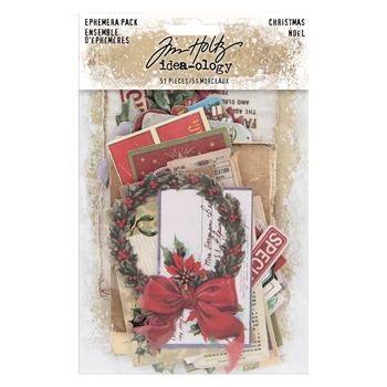 RESERVE Tim Holtz Idea-ology Ephemera Pack CHRISTMAS th93989