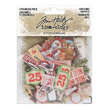 RESERVE Tim Holtz Idea-ology Ephemera Pack CHRISTMAS SNIPPETS th94009