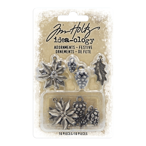 Tim Holtz Idea-ology FESTIVE Adornments th93990 Preview Image