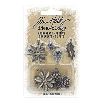RESERVE Tim Holtz Idea-ology FESTIVE Adornments th93990
