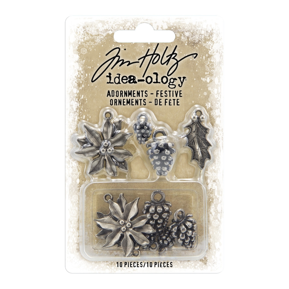 Tim Holtz Idea-ology FESTIVE Adornments th93990 zoom image
