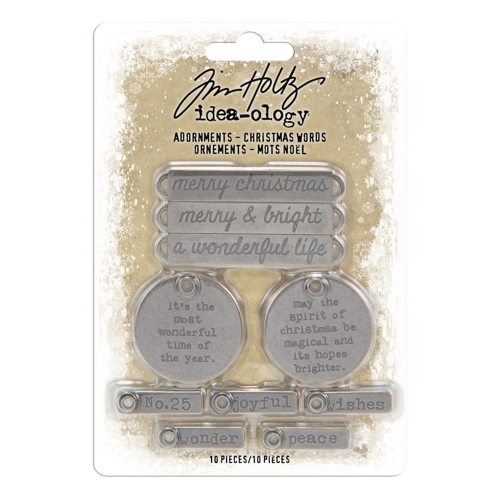 Tim Holtz Idea-ology CHRISTMAS WORDS Adornments th93991 zoom image