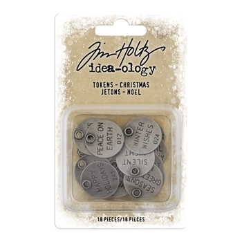 RESERVE Tim Holtz Idea-ology CHRISTMAS Tokens th93997