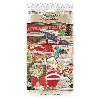 RESERVE Tim Holtz Idea-ology CHRISTMAS Sticker Book th93999