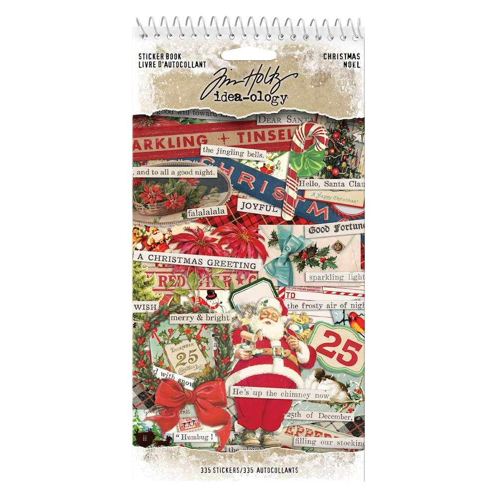 Tim Holtz Idea-ology CHRISTMAS Sticker Book th93999 zoom image