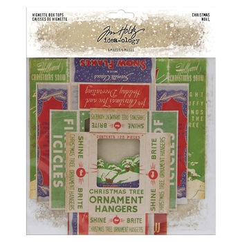 RESERVE Tim Holtz Idea-ology CHRISTMAS Vignette Box Tops th94000