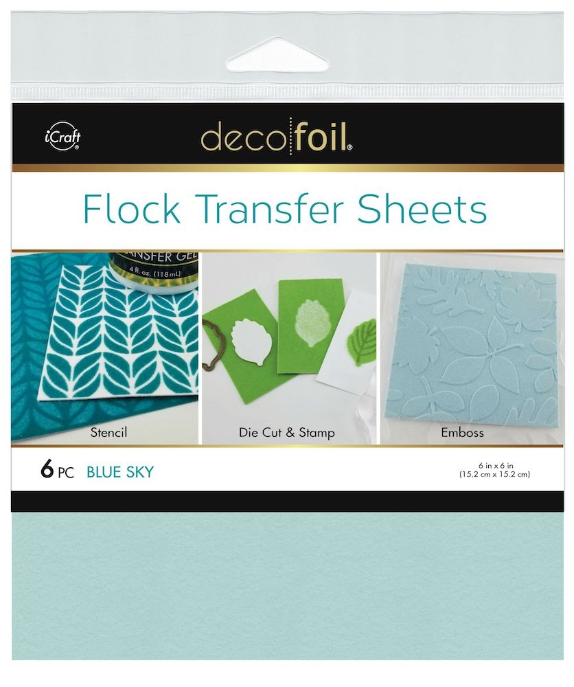 Therm O Web BLUE SKY Flock 6x6 Inch Transfer Sheets Deco Foil 5558 zoom image