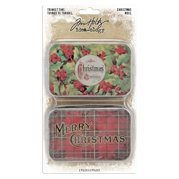 RESERVE Tim Holtz Idea-ology CHRISTMAS Trinket Tins th94005