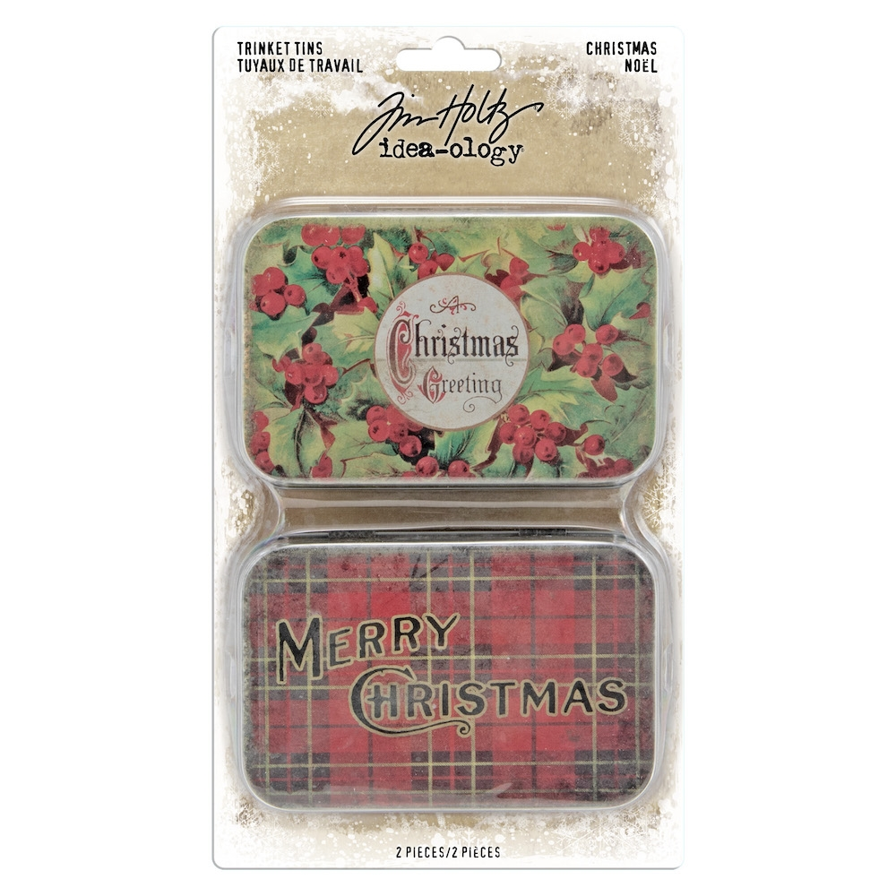 Tim Holtz Idea-ology CHRISTMAS Trinket Tins th94005 zoom image