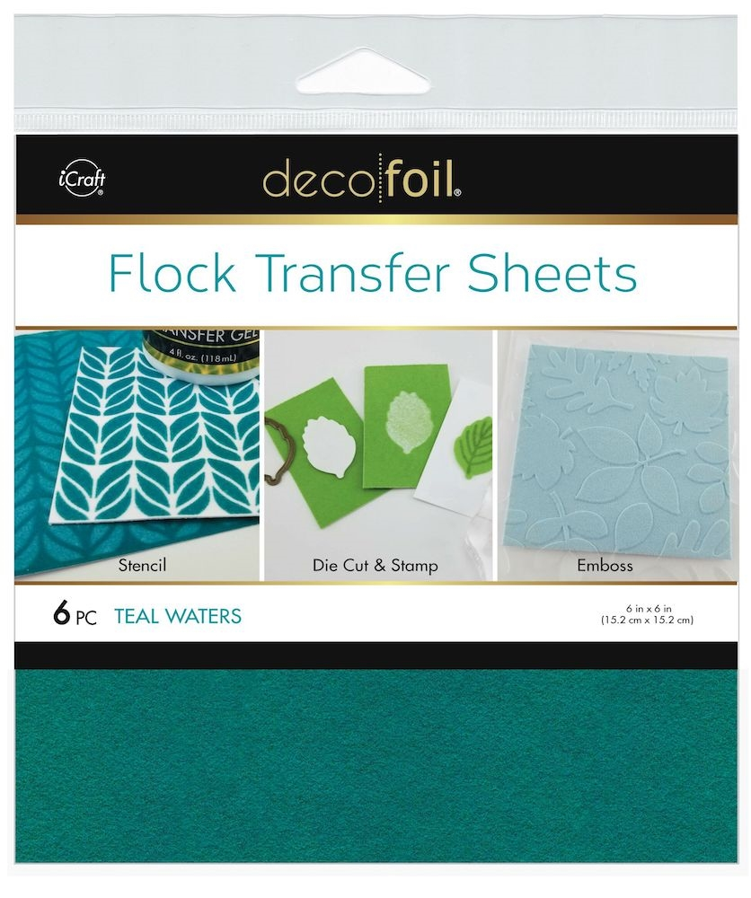 Therm O Web TEAL WATERS Flock 6x6 Inch Transfer Sheets Deco Foil 5561 zoom image