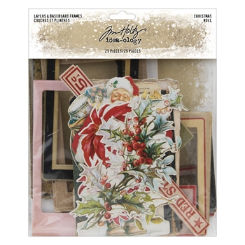 RESERVE Tim Holtz Idea-ology CHRISTMAS Layers And Baseboard Frames th94017