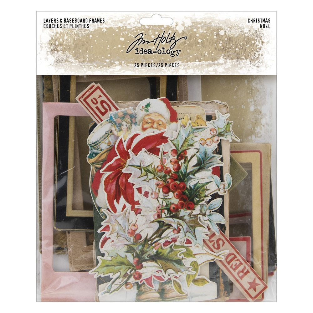 Tim Holtz Idea-ology CHRISTMAS Layers And Baseboard Frames th94017 zoom image