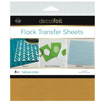 Therm O Web TUSCAN GOLD Flock 6x6 Inch Transfer Sheets Deco Foil 5562