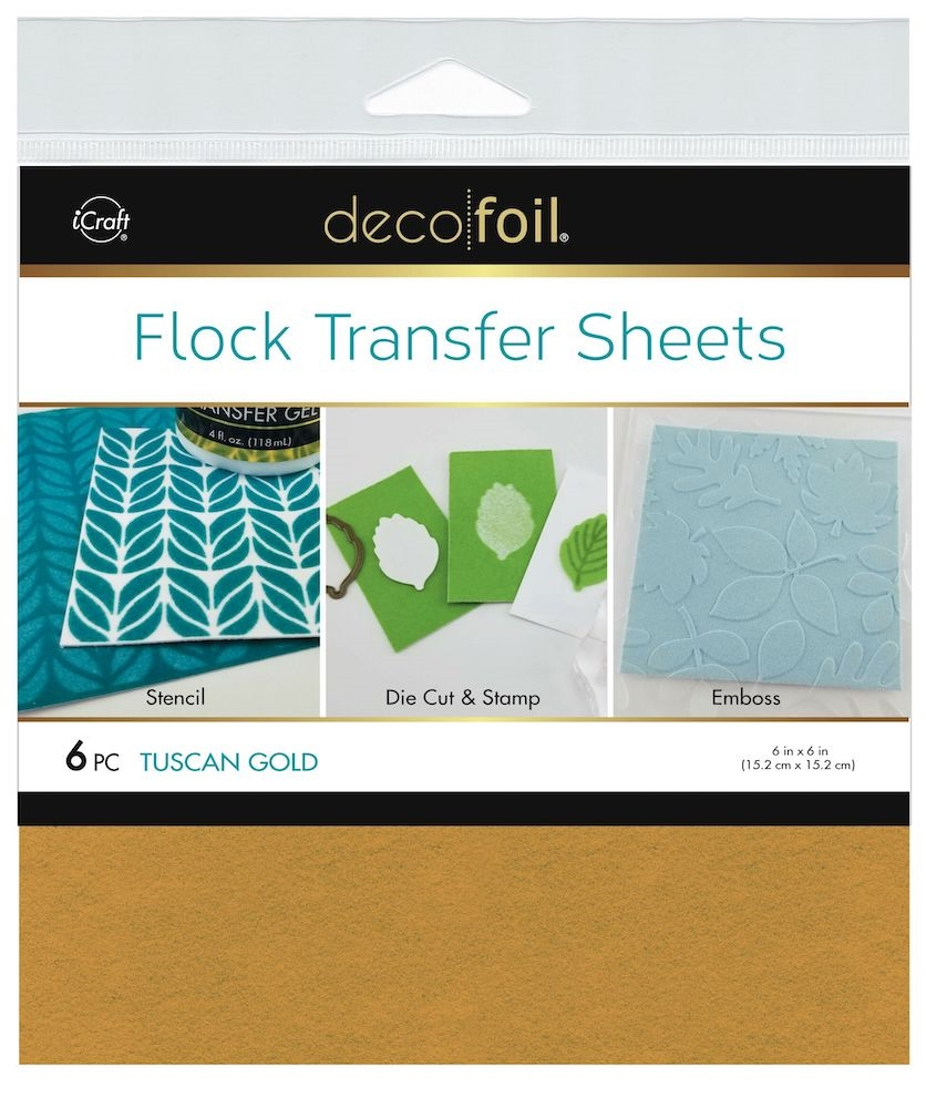 Therm O Web TUSCAN GOLD Flock 6x6 Inch Transfer Sheets Deco Foil 5562 zoom image