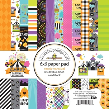 Doodlebug CANDY CARNIVAL 6x6 Inch Paper Pad 6530