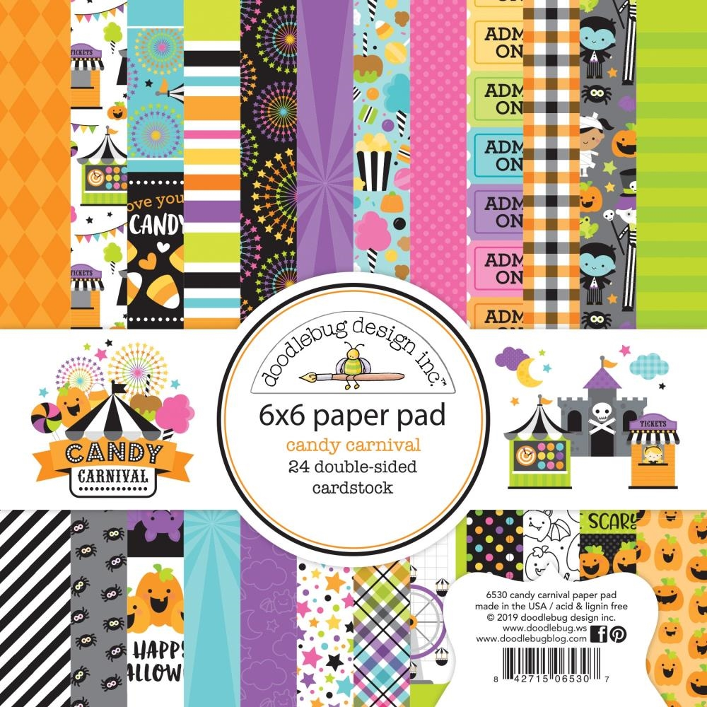 Doodlebug CANDY CARNIVAL 6x6 Inch Paper Pad 6530 zoom image