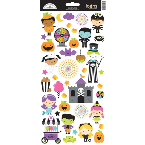 Doodlebug CANDY CARNIVAL Icons Cardstock Stickers 6558 Preview Image