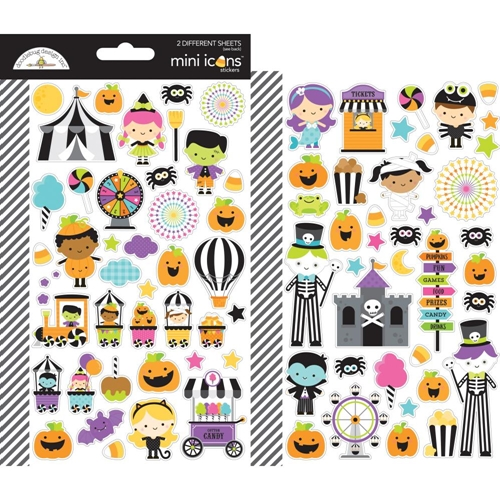 Doodlebug CANDY CARNIVAL Mini Icons Cardstock Stickers 6470 Preview Image