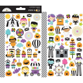 Doodlebug CANDY CARNIVAL Mini Icons Cardstock Stickers 6470